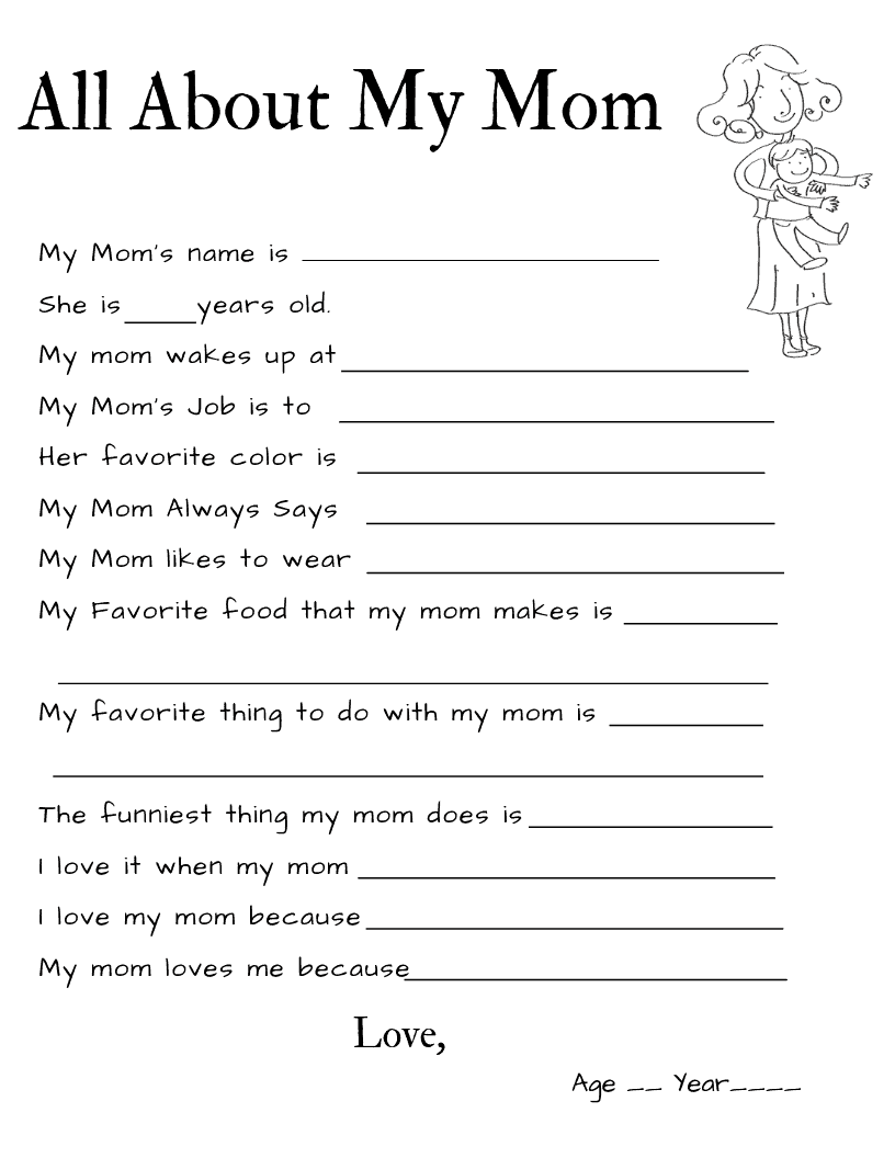 All About My Mom {Free Printable + Giveaway} - The Keele Deal